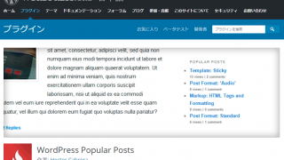 【WordPressプラグイン:WordPress Popular Posts】のカスタマイズ例