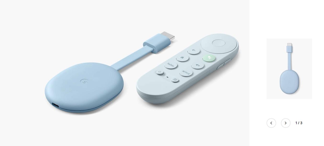 Chromecast with Google TV ブルー