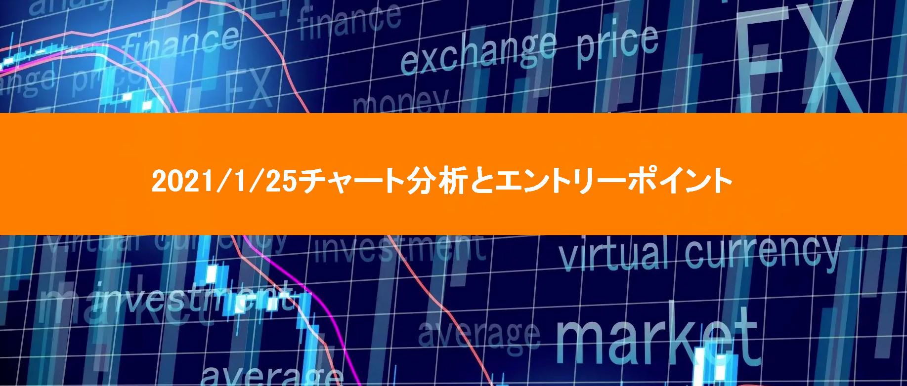2021/1/25チャート分析とエントリーポイント