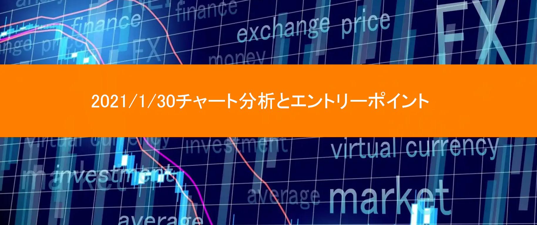 2021/1/30チャート分析とエントリーポイント