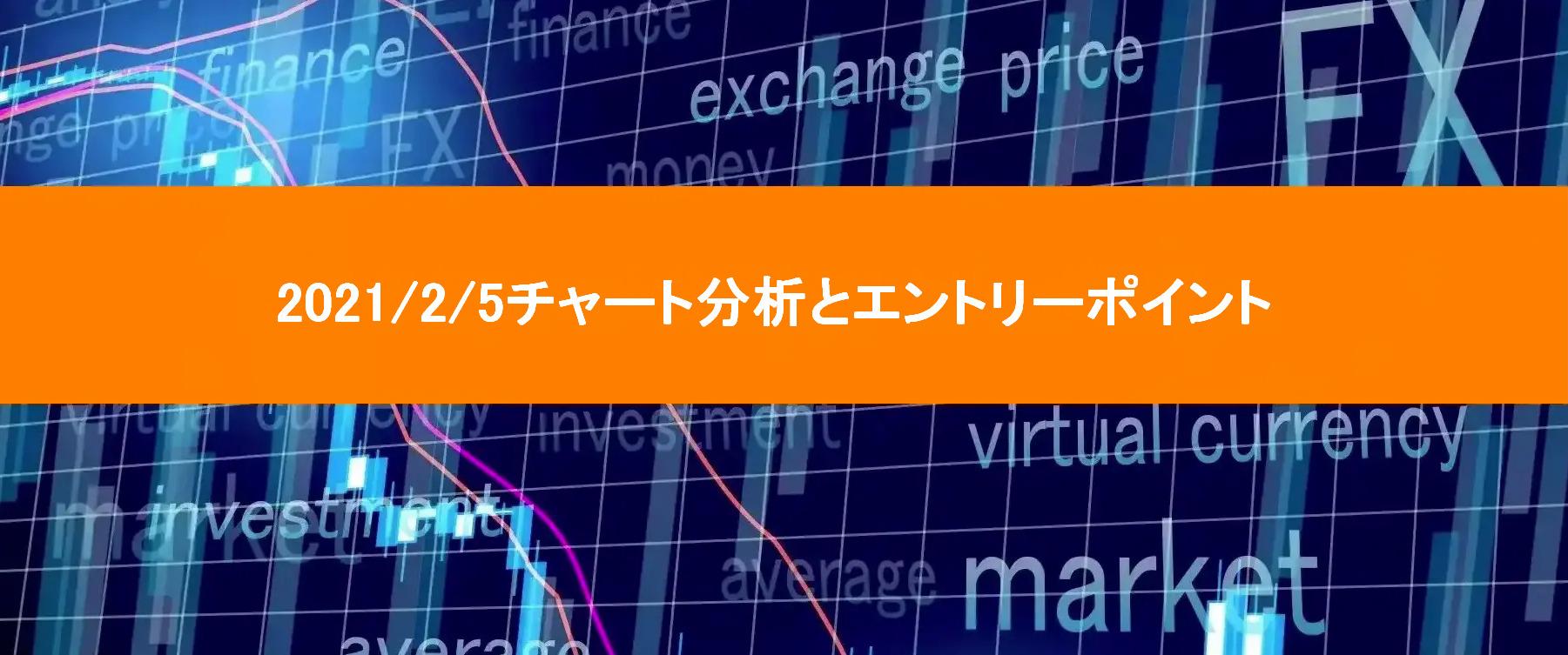 2021/2/15チャート分析とエントリーポイント