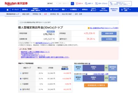 2021/3/17楽天証券iDeco1