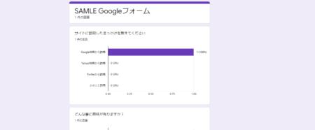 Googleフォーム>アンケート結果